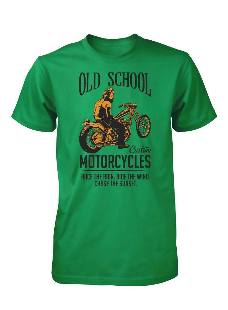 Bnwt old school custom motorcycles race rain ride wind t for T shirts for 15 year olds