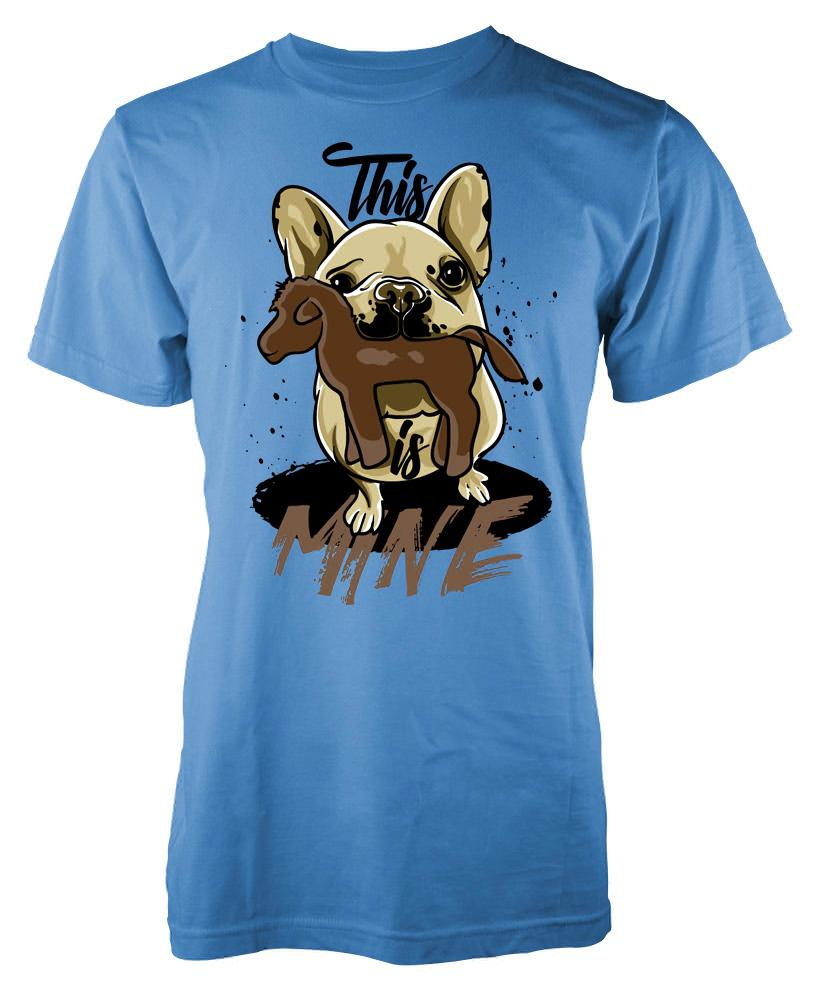 This is mine small dog with dog toy adult t shirt ramgfx for T shirt dog toy
