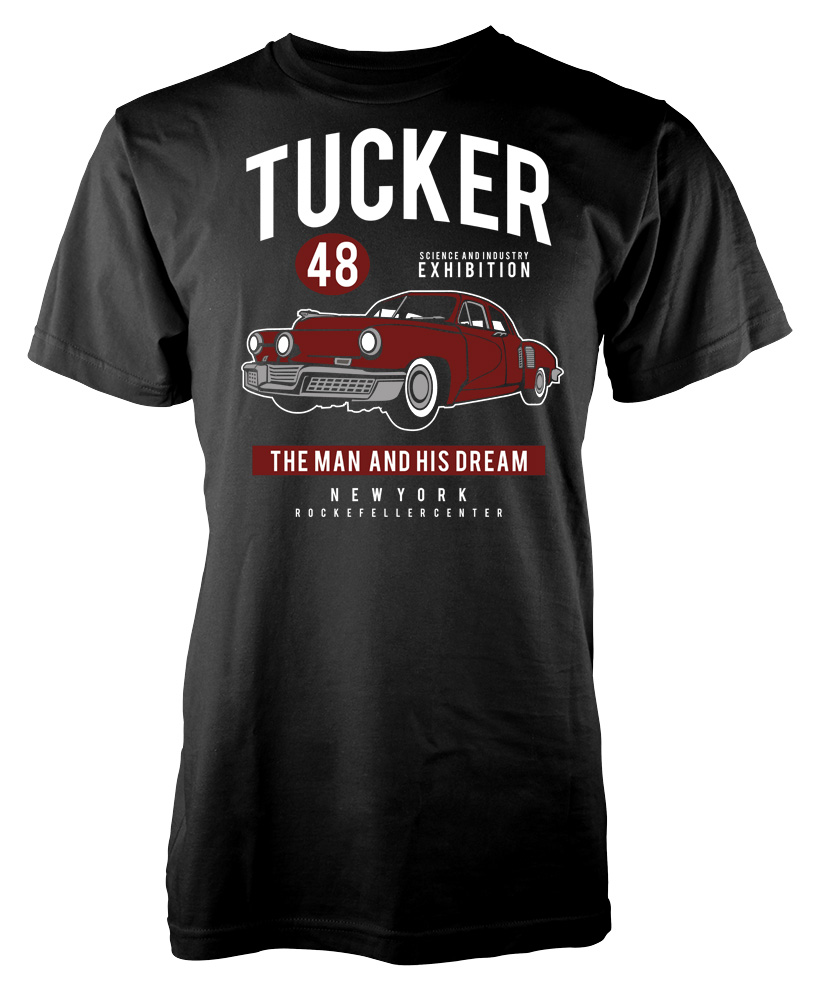Tucker 48 the man and his dream new york custom car adult for New york custom t shirts