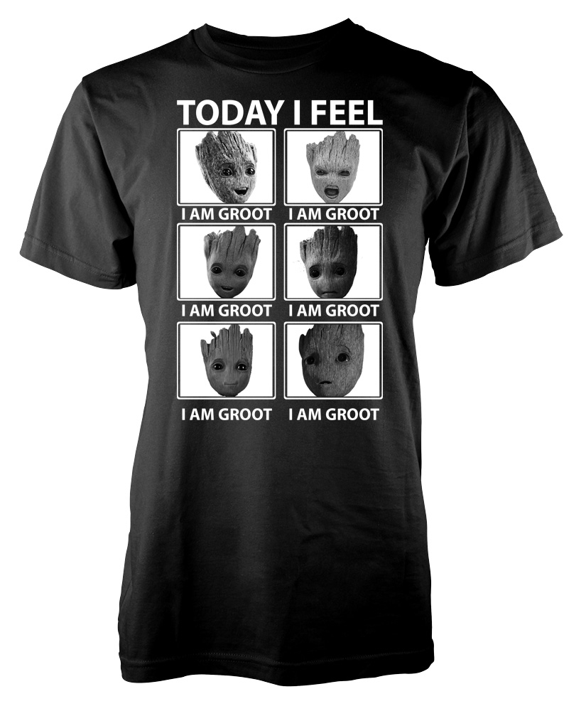 Baby Groot T Shirt Today/'s Mood I Am Groot Angry Funny MCU Xmas Gift Men Tee Top