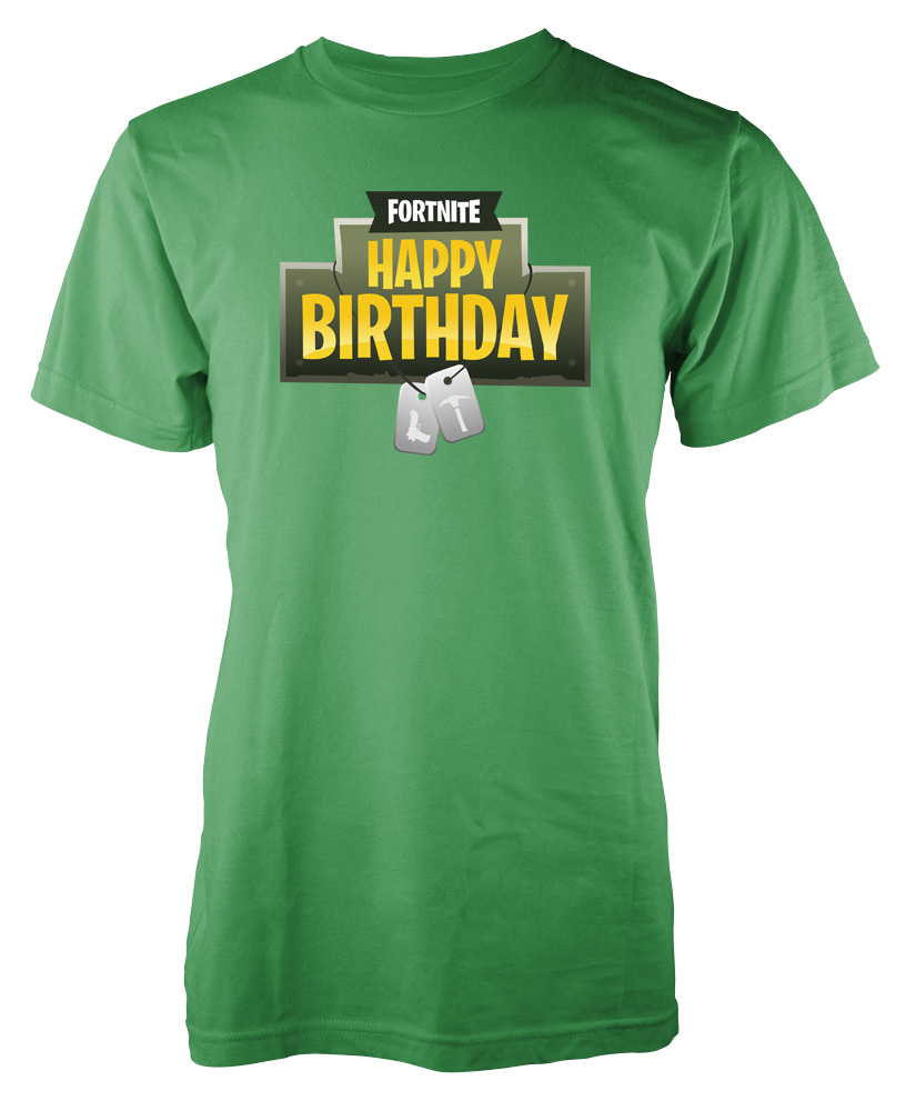 Fortnite Gaming Happy Birthday Battle Royale Tag Adult T Shirt