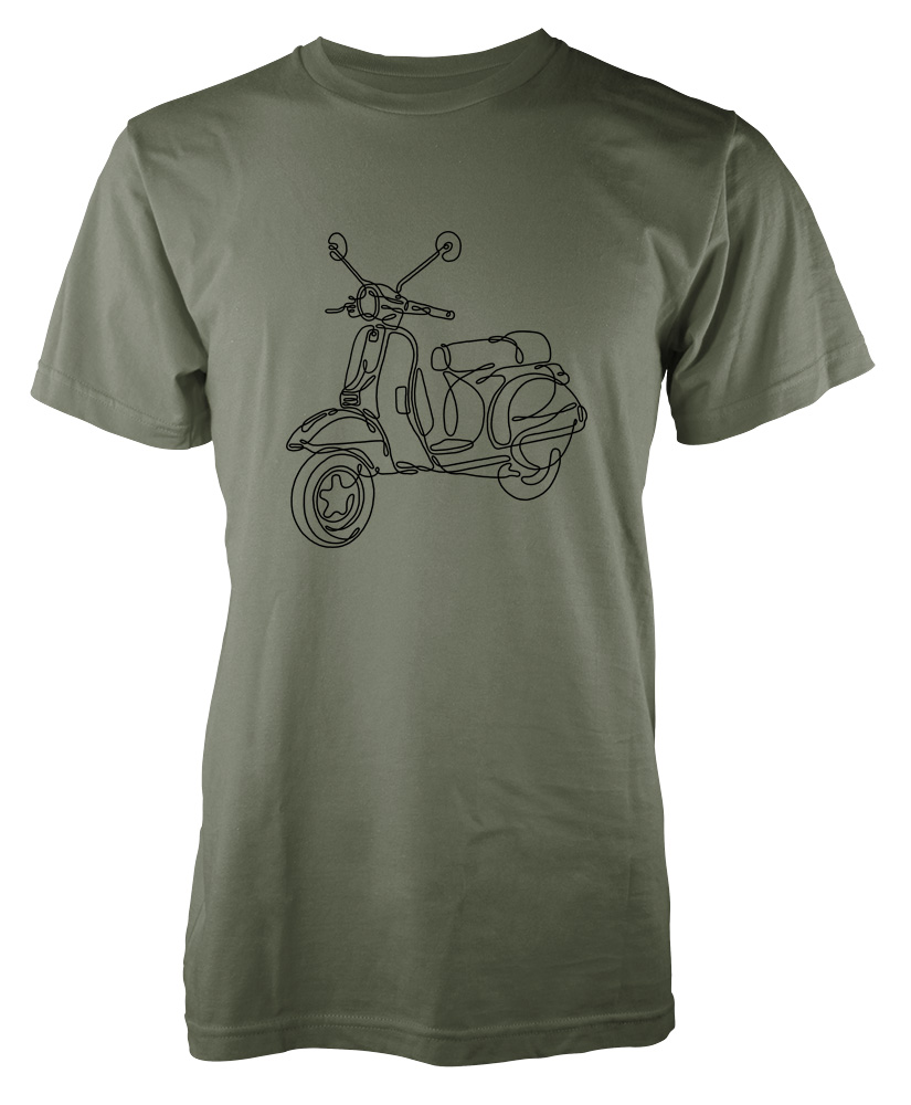 Scribble Drawing Uk : Vespa scooter scribble drawing kids t shirt ramgfx